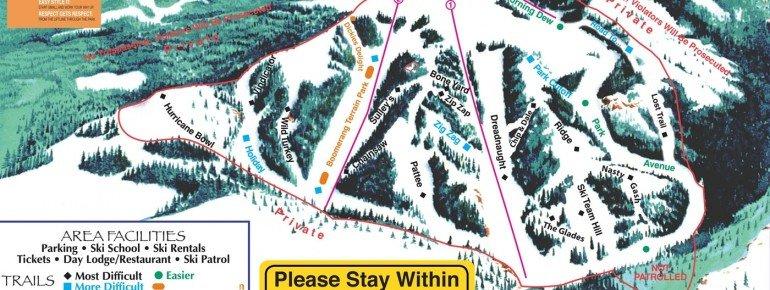 Trail Map Hogadon Ski Area