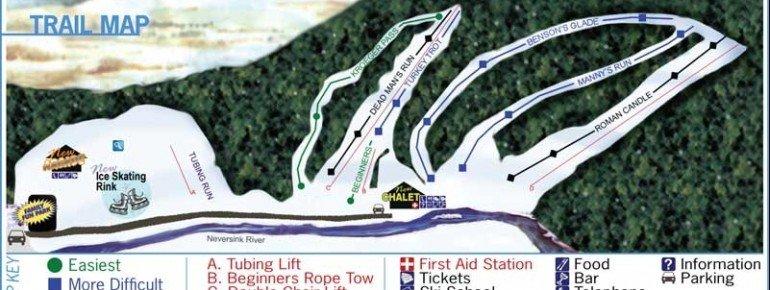 Trail Map Holiday Mountain NY