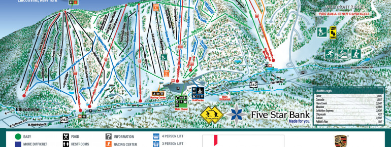 Trail Map HoliMont Ski Area