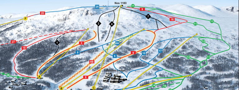 Trail Map Hovden