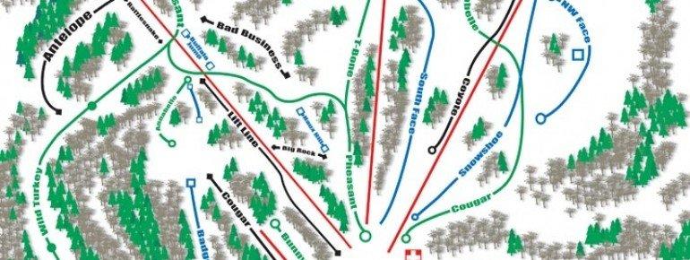 Trail Map Huff Hills Ski Area