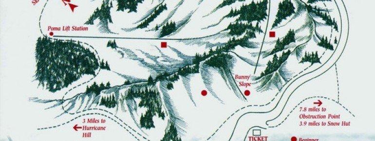 Trail Map Hurricane Ridge Ski Area