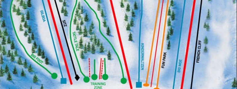 Trail Map Hyland Ski and Snowboard Area