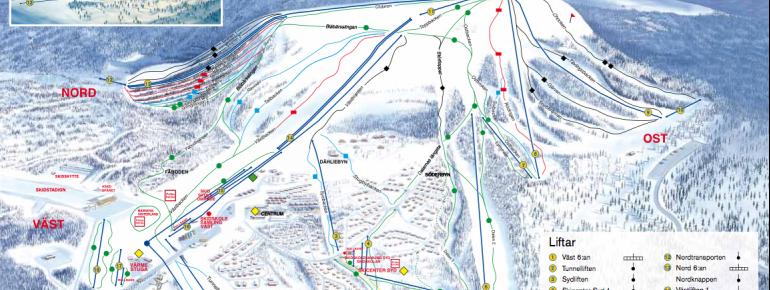 Trail Map Idre Fjäll