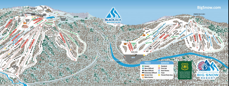 Trail Map Big Snow Resort