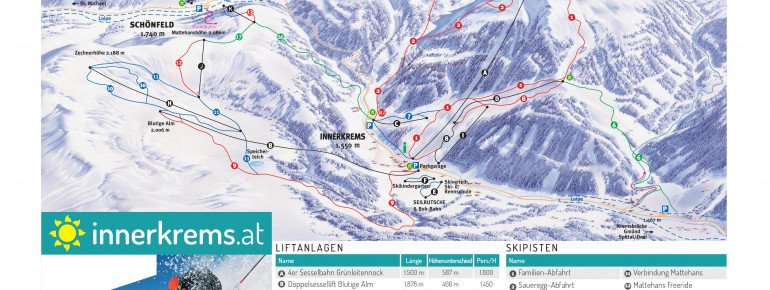Trail Map Innerkrems