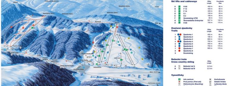Trail Map Jasenska Dolina