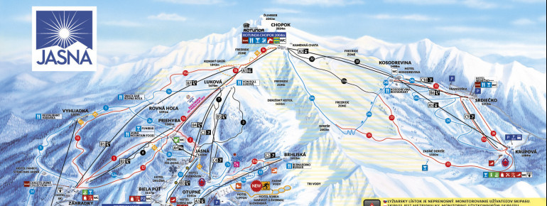 Trail Map Jasna