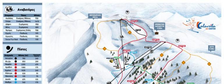 Trail Map Kalavrita - Helmos