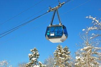 The gondola of the Karwendelbahn Mittenwald takes you to the top.