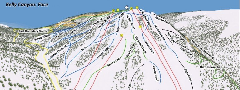 Trail Map Kelly Canyon Ski Area