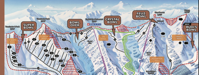 Trail Map Kicking Horse Mountain Resort