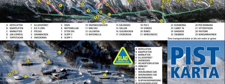 Trail Map Kittelfjäll