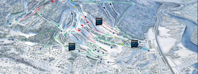 Trail Map Kläppen Ski Resort
