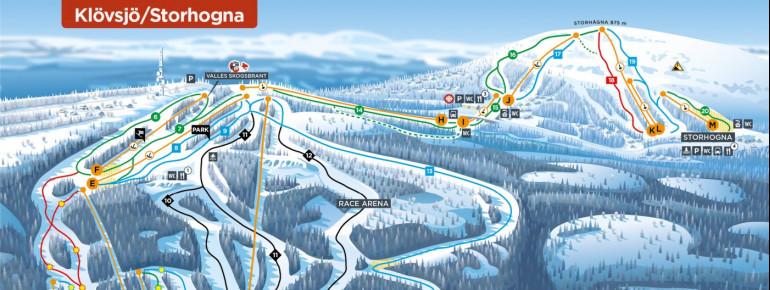 Trail Map Klövsjö / Storhogna