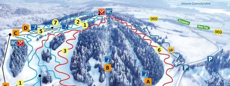 Trail Map Kluszkowce Czorsztyn Ski