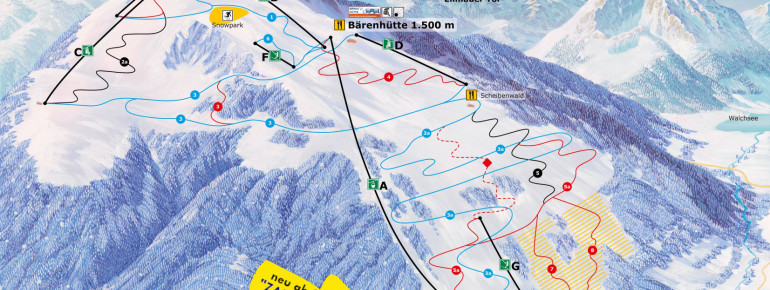 Trail Map Kössen