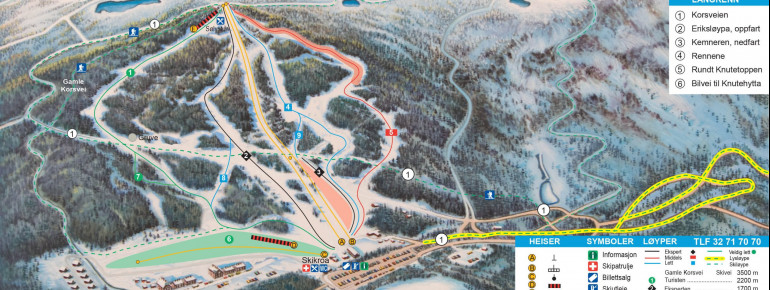 Trail Map Kongsberg