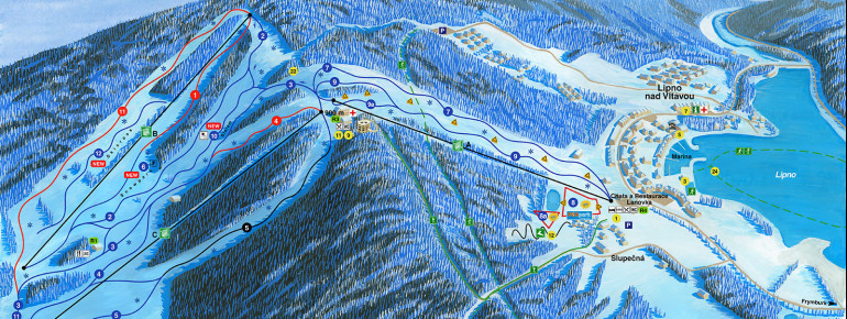 Trail Map Skiareál Lipno