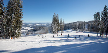 The ski resort is located at the South Bohemian region of Czech Republic.