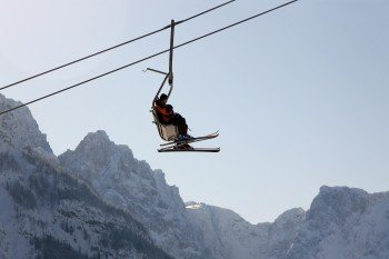 A total of 22 lifts take you around Kranjska Gora ski resort.
