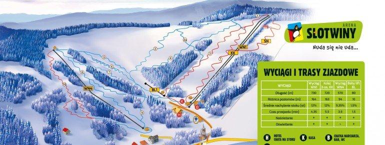Trail Map Krynica Centrum Narciarskie Azoty