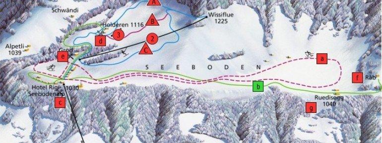 Trail Map Küssnacht am Rigi Seebodenalp