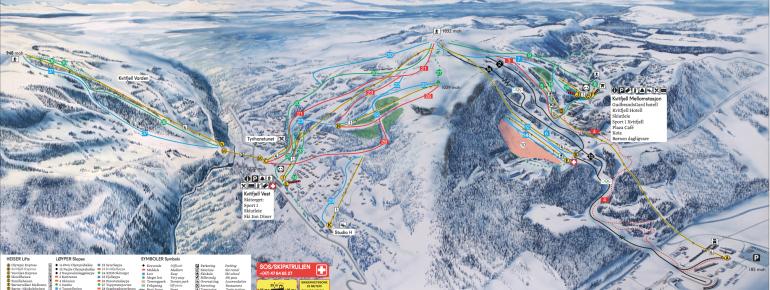 Trail Map Kvitfjell