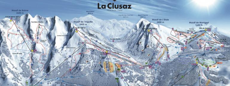 Trail Map La Clusaz - Manigod