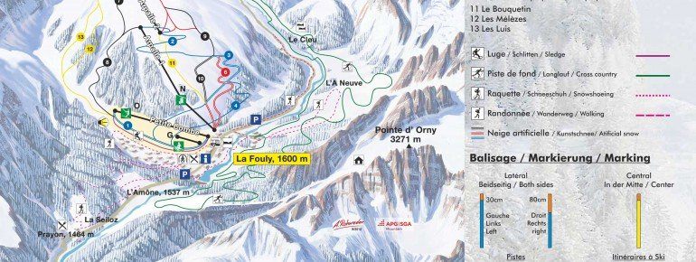 Trail Map La Fouly Val Ferret