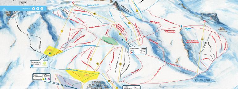 Trail Map La Parva