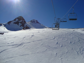 Here's to the wide open slopes at La Parva!