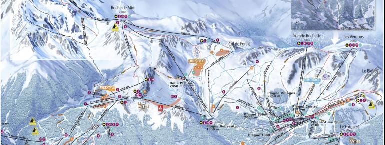 Trail Map La Plagne
