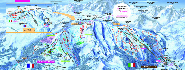 Trail Map La Rosiere