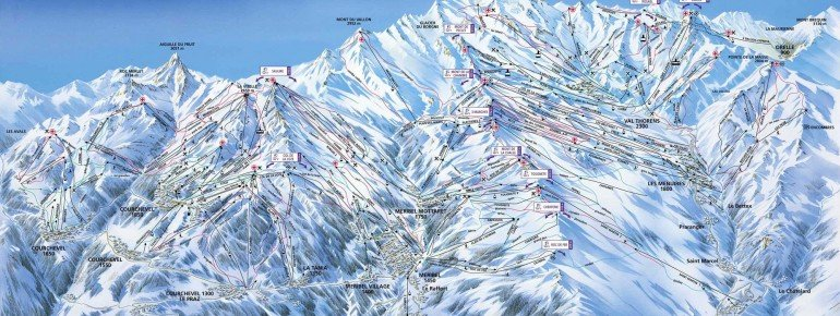 Trail Map La Tania
