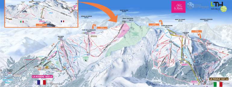 Trail Map La Thuile – La Rosiere (Espace San Bernardo)