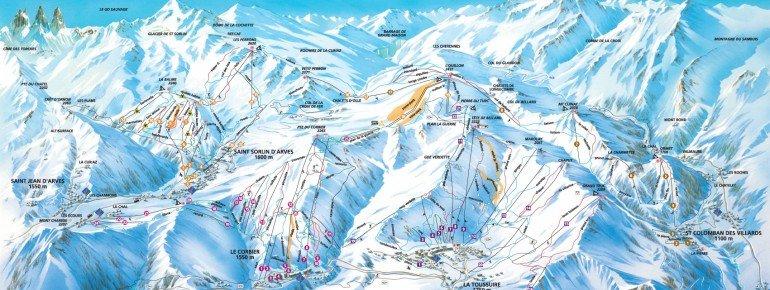 Trail Map La Toussuire