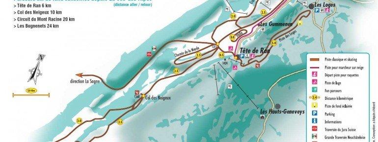 Trail Map La Vue des Alpes Tete de Ran