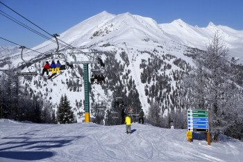 The Larch Area is another great spot for skiing.