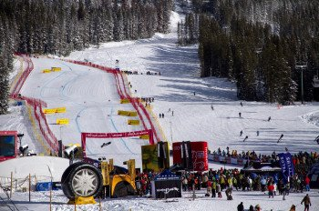 Lake Louise is usually the first stop on the FIS Alpine Ski World Cup circuit - a thrilling experience for all spectators.
