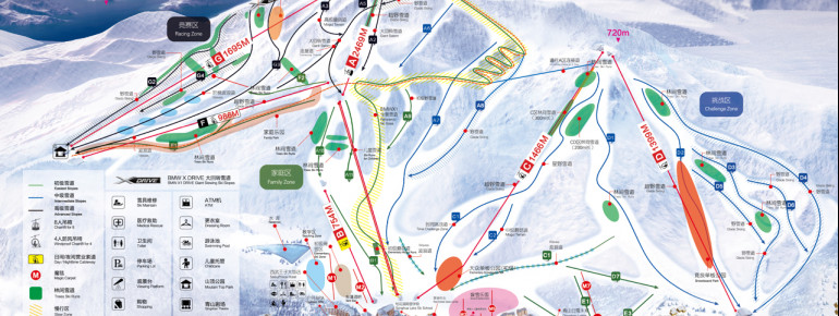 Trail Map Lake Songhua Resort