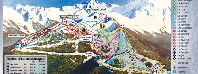 Trail Map Le Collet d Allevard