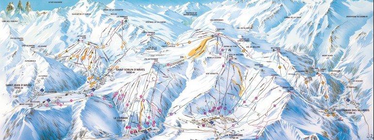 Trail Map Le Corbier