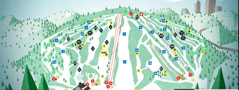 Trail Map Centre de ski Le Relais