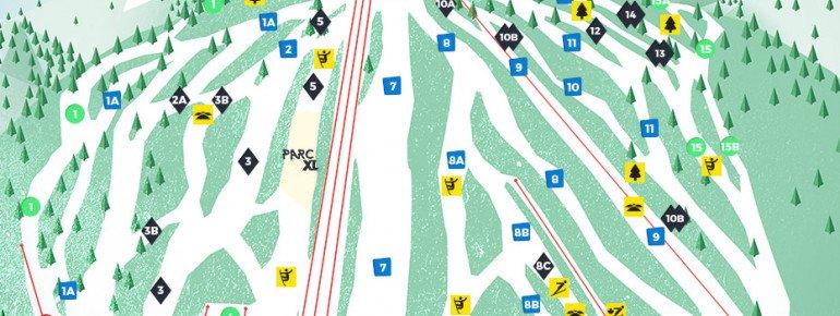 Trail Map Centre de ski Le Relais