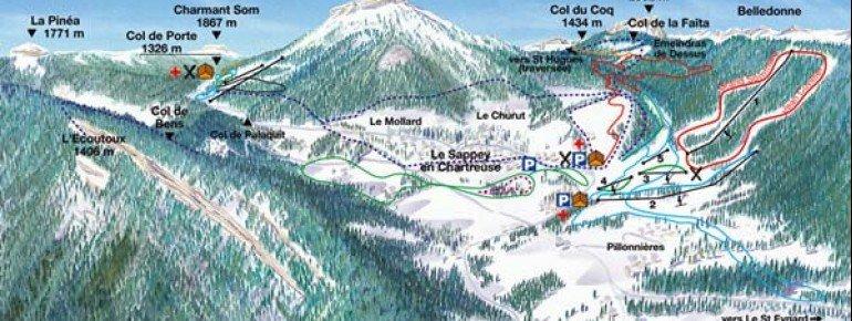 Trail Map Le Sappey en Chartreuse