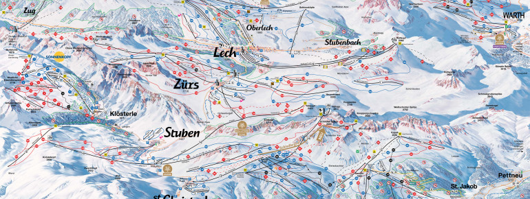 Trail Map Lech Zürs (Ski Arlberg)