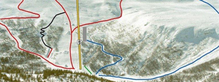 Trail Map Lemonsjoen Jotunheimen