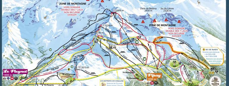 Trail Map Les 7 Laux
