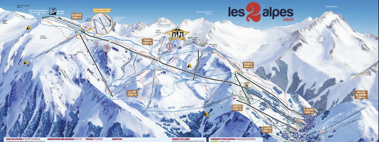 Trail Map Les 2 Alpes